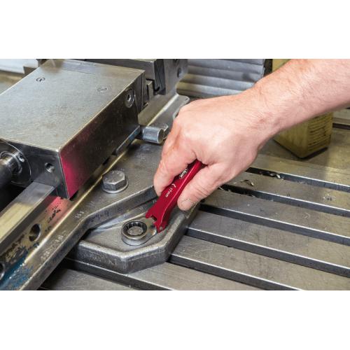 Набор алюминиевых накидных ключей с трещоткой